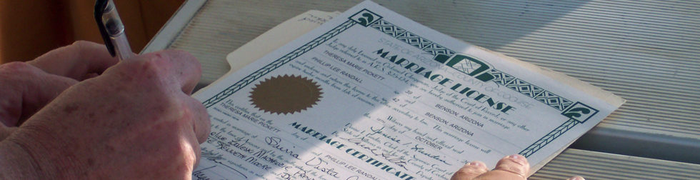 Photo: Marriage License